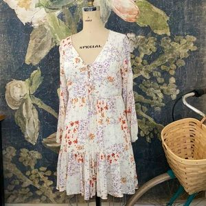 90s style y2k American Eagle floral babydoll dress